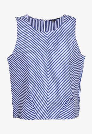 POPLIN SHELL STRIPE - Blouse - blue