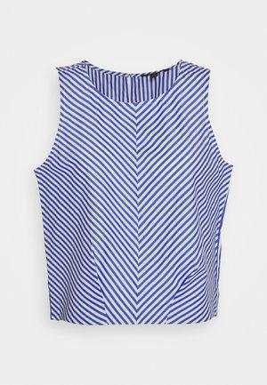 POPLIN SHELL STRIPE - Bluse - blue