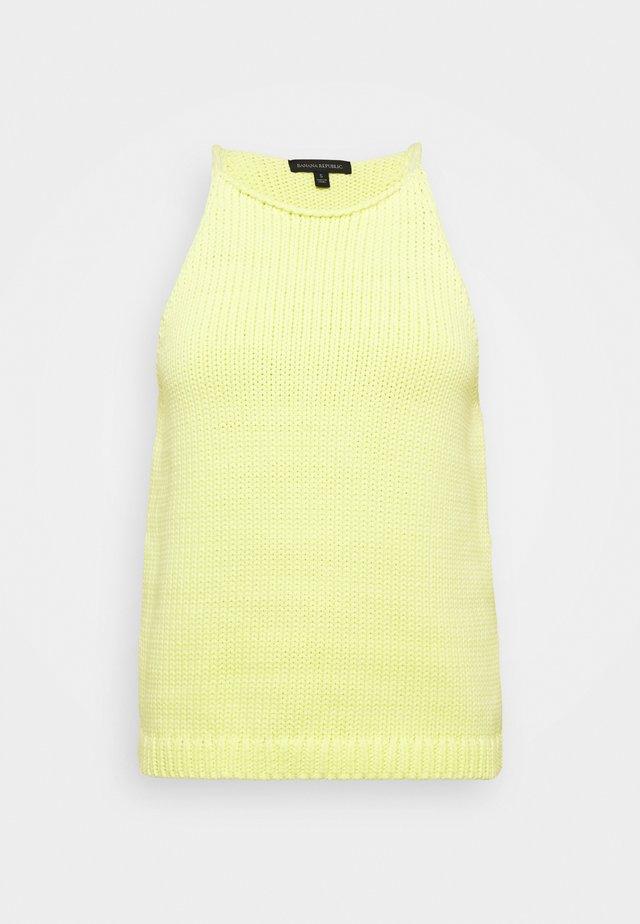 CASTOFF HALTER TANK - Débardeur - luminous yellow