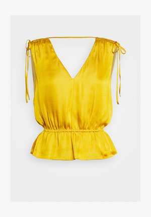 RUCHED SHOULDER FLOUNCE - Camicetta - golden yellow