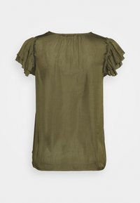 Banana Republic - SOFT RUFFLE - Camicetta - jungle olive
