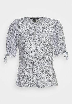 KEYHOLE PEPLUM - Blusa - white