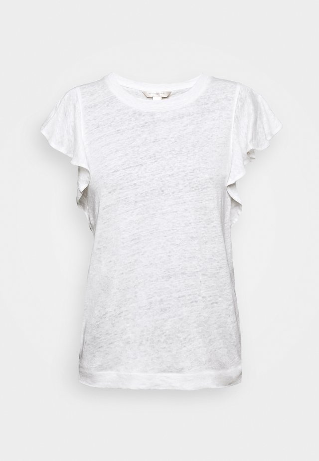 FLUTTER SLEEVE - T-shirt con stampa - white