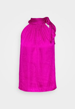 TIE NECK HALTER - Camicetta - hot bright pink