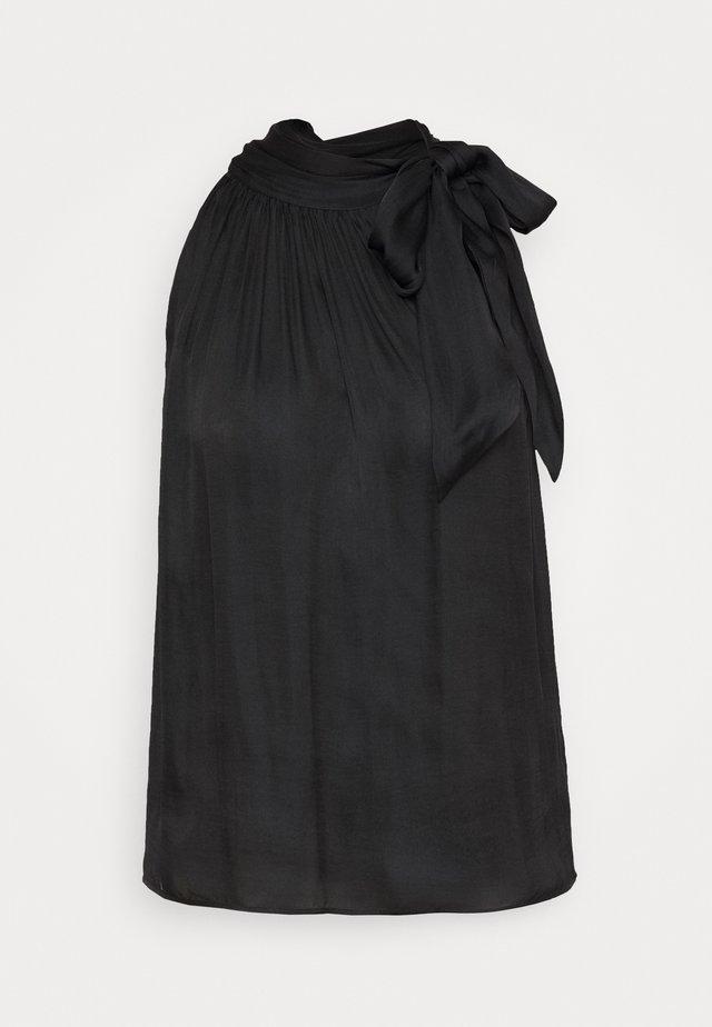 TIE NECK HALTER - Blouse - black