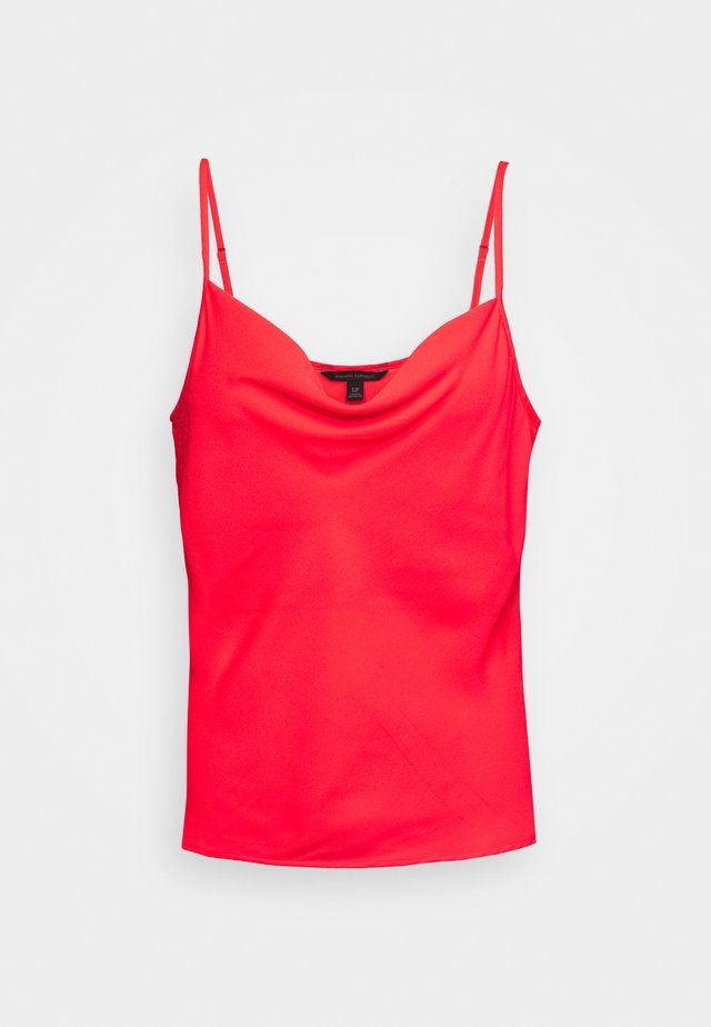 DRAPE FRONT CAMI - Top - hyper coral neon