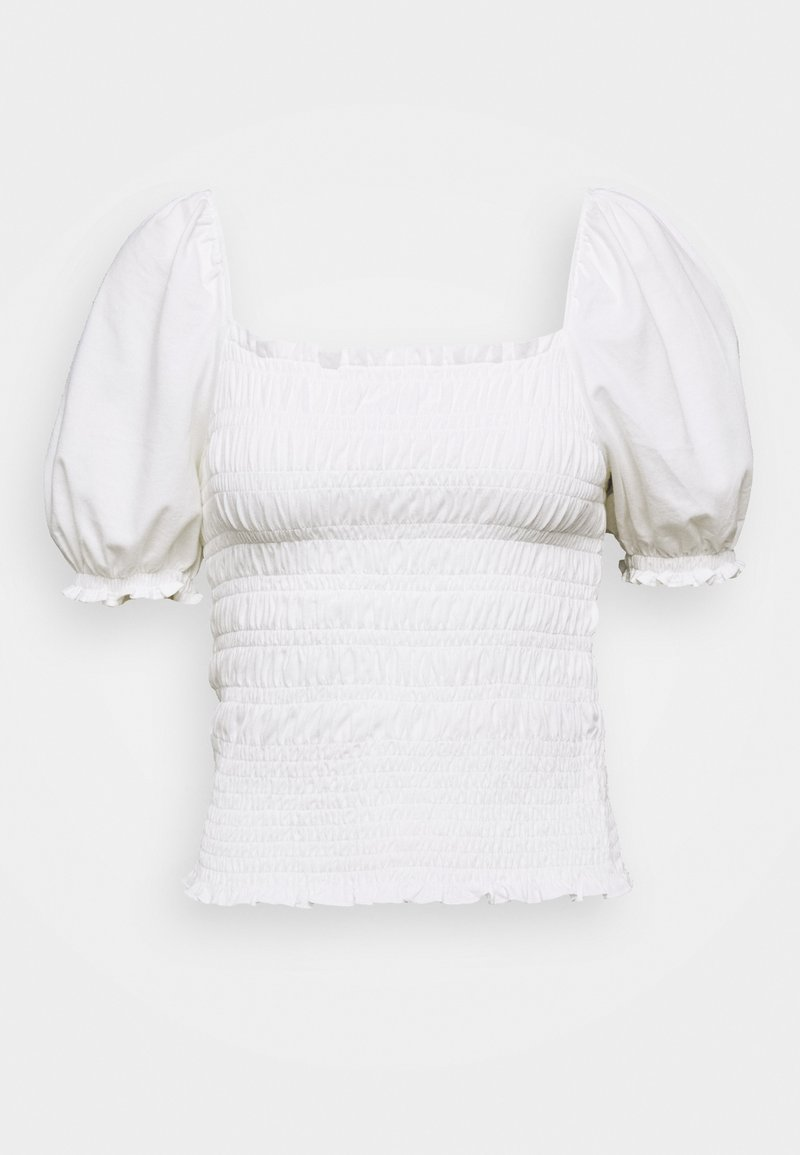 Banana Republic - RUCHED BODY PUFF SLEEVE - T-shirt con stampa - white