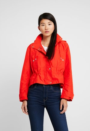 CROP HOODIE - Summer jacket - vamp red