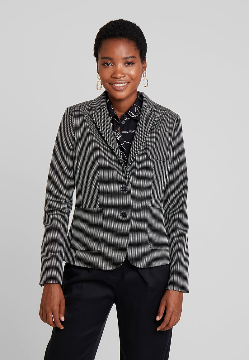 Banana Republic - PIN DOT HACKING - Blazer - black/blanco