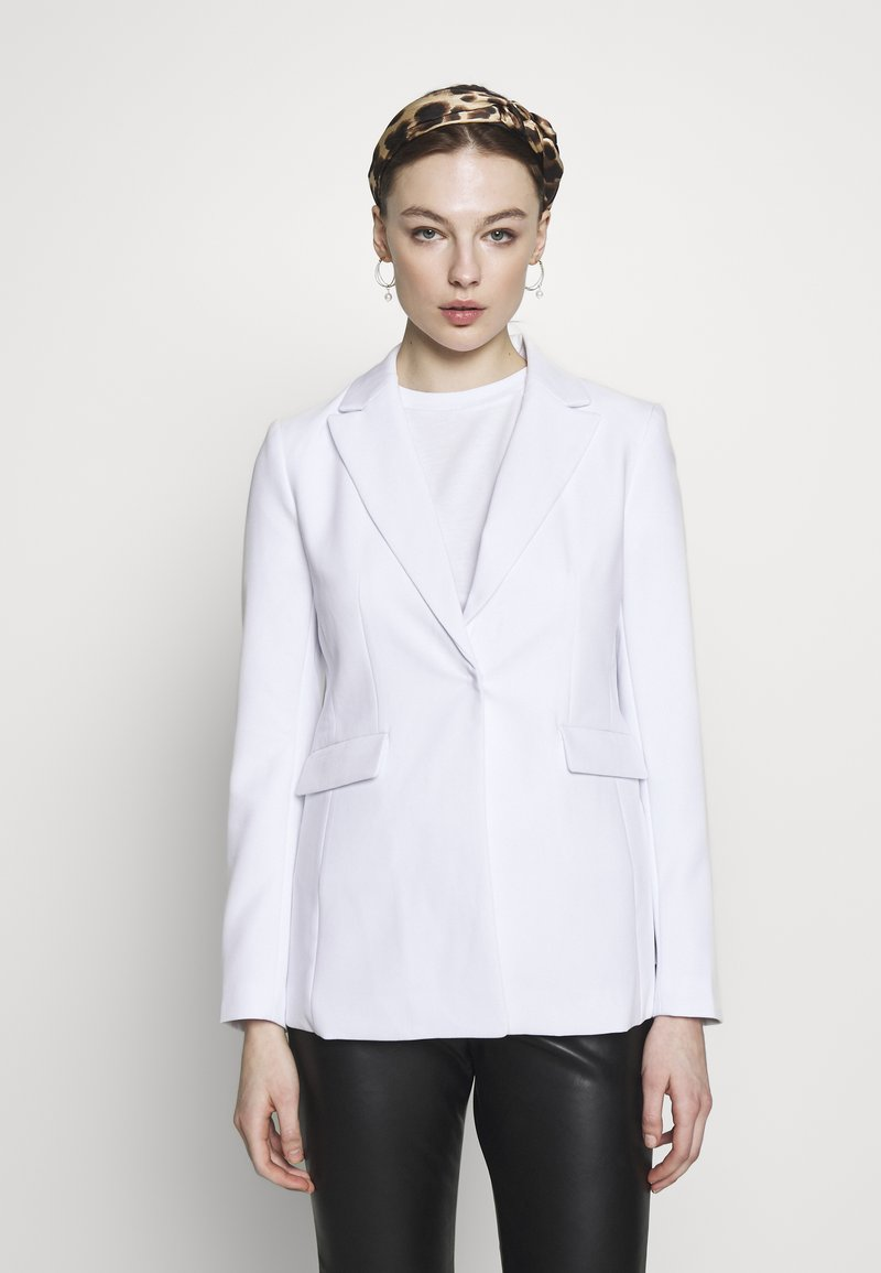 Banana Republic - SCULPTED STRUCTURED SOLIDS - Blazer - vwhite