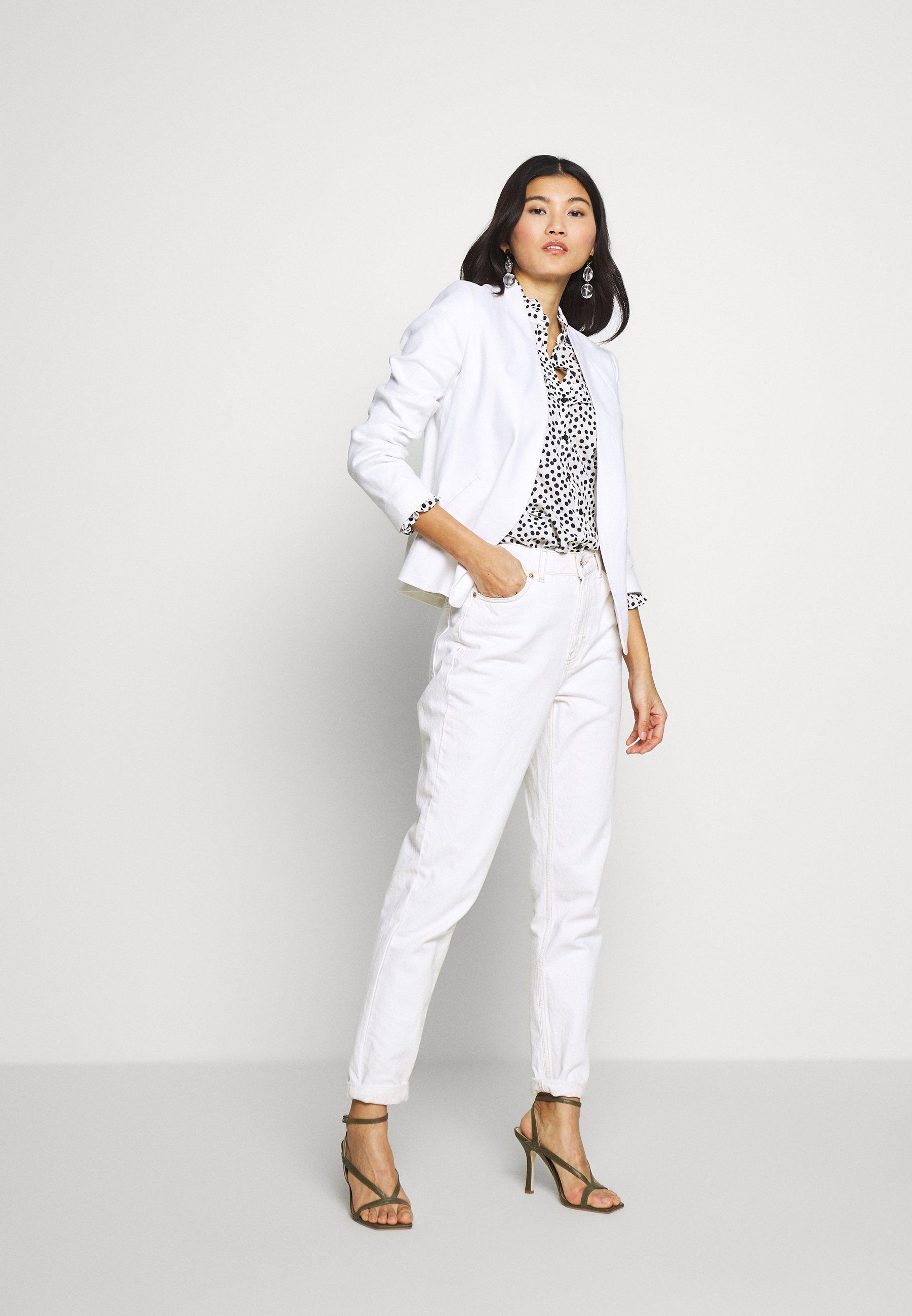 Banana Republic Collarless Solid - Blazer White