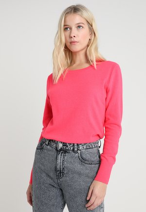 NEW WAY CREW - Jumper - neon coral volt