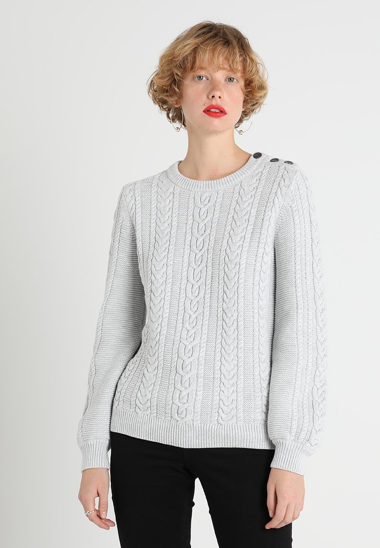 Banana Republic - CABLE CREW DEVOTION - Strickpullover - light grey heather