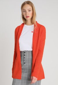 Banana Republic - AIRE BELTED PIECE - Cardigan - blood orange - 0