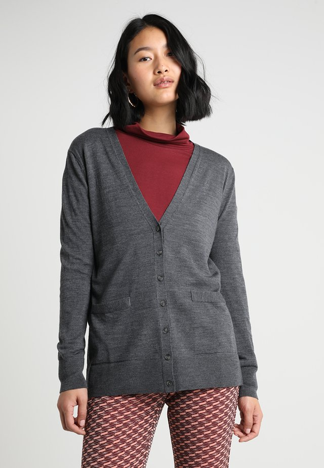 CARDIGAN - Strickjacke - charcoal grey heather