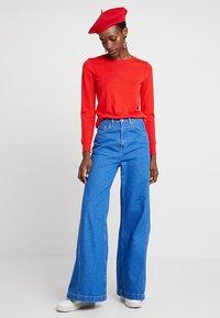 Banana Republic - CREW - Stickad tröja - reddish orange - 1