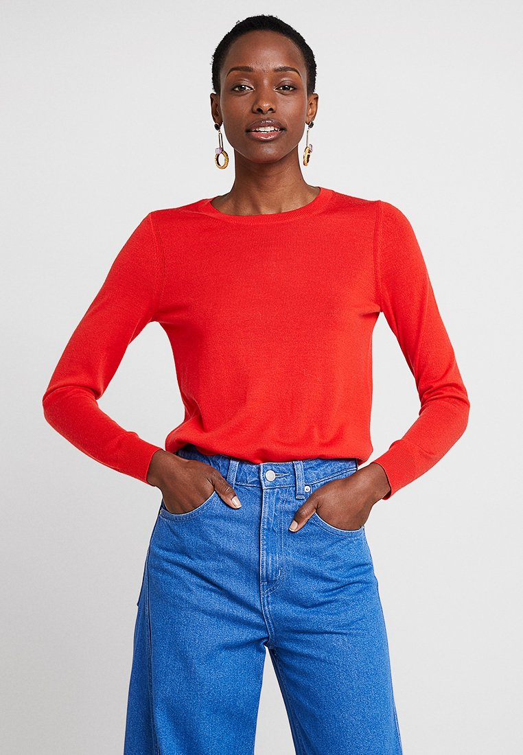Banana Republic - CREW - Stickad tröja - reddish orange