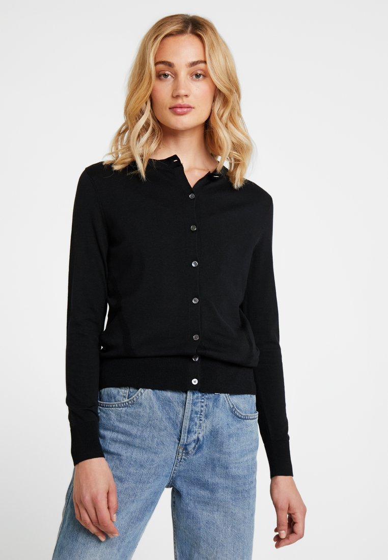 Banana Republic - STRETCH CARDIGAN - Kardigan - black