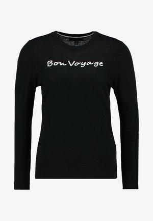 CREW BON VOYAGE EMBROIDERY - Maglione - black