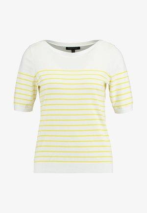 STRETCH TEE BRETON STRIPE - T-shirt imprimé - white with yellow