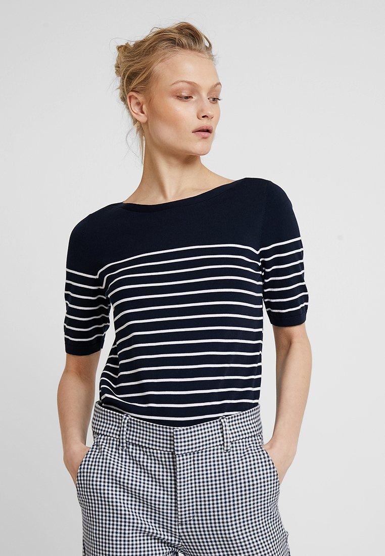 Banana Republic - STRETCH TEE BRETON STRIPE - T-Shirt print - navy/white