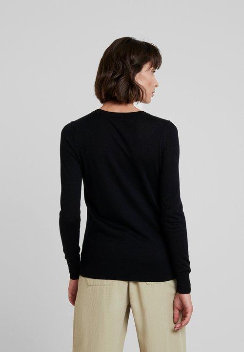sprzedaż Banana Republic CREW SOLIDS - Sweter - black Odzież Damska SJEX-CD1
