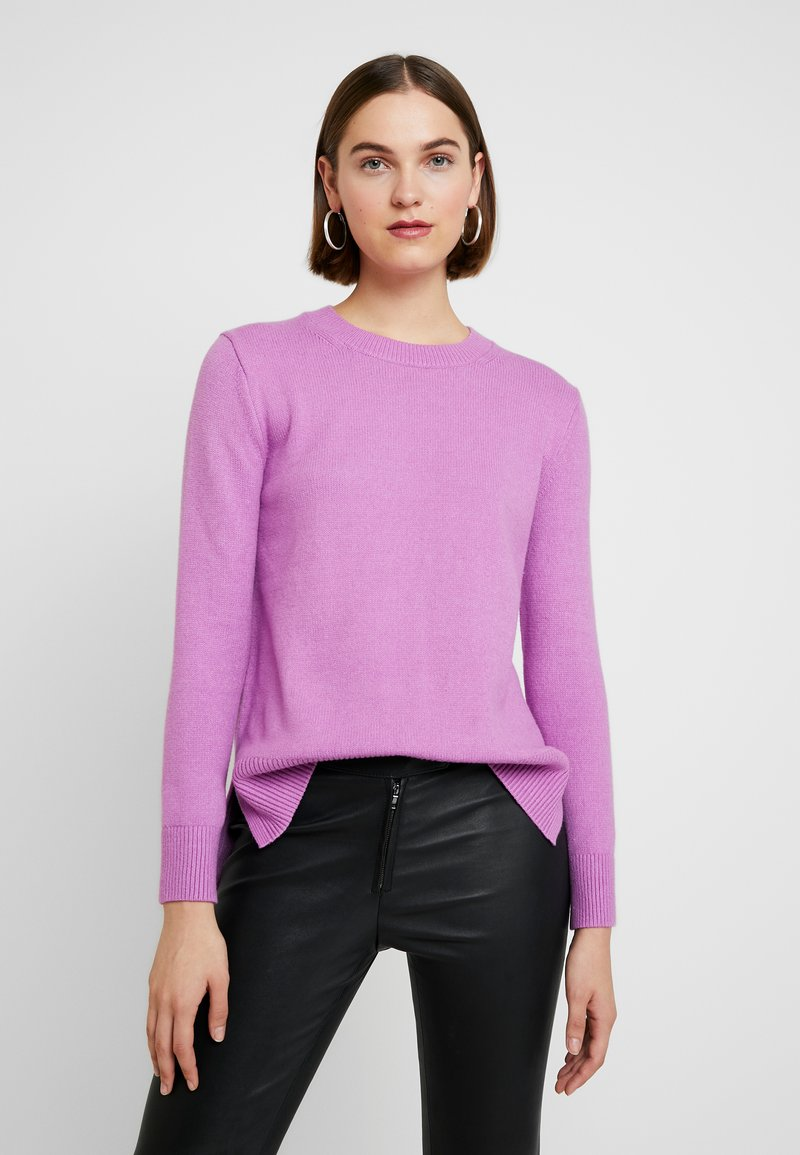 Banana Republic - SUPERSOFT CREW SOLIDS - Jumper - orchid purple