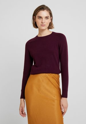 NEW WAY CREW SOLIDS - Trui - burgundy wine
