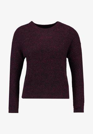 POINTELLE FLUFFY CREW - Stickad tröja - burgundy