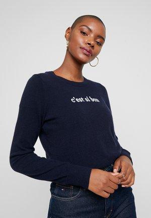 NEW WAY CREW CEST CI BON - Stickad tröja - navy