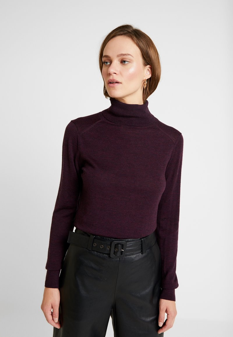 Banana Republic - TURTLENECK - Jumper - burgundy