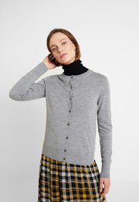 Banana Republic - CREW CARDIGAN - Cardigan - medium grey - 0