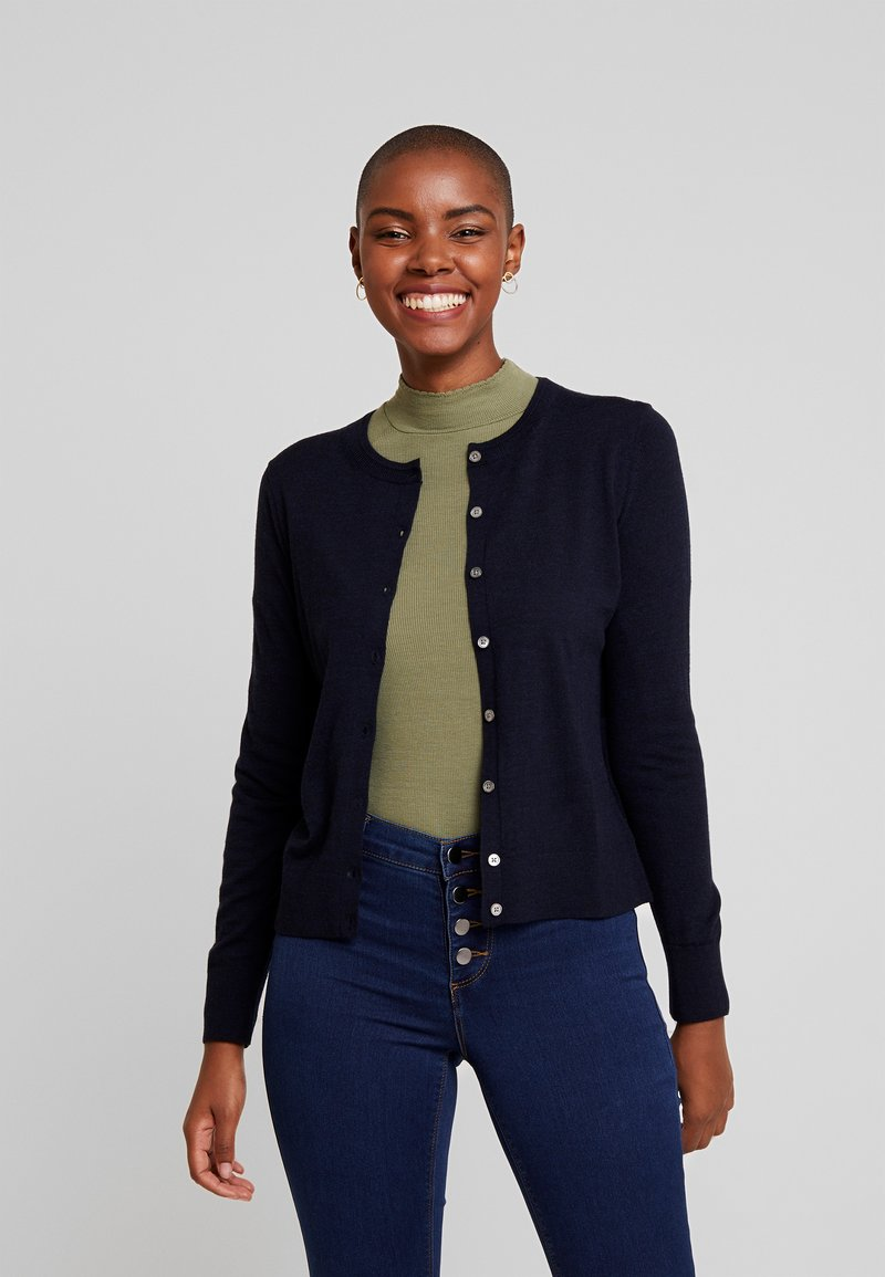 Banana Republic - CREW CARDIGAN - Kardigan - navy