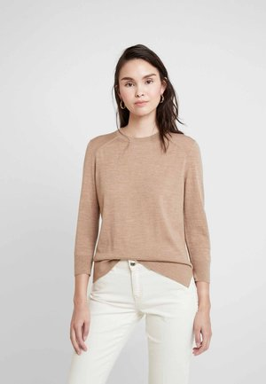 3/4 SLEEVE CREW - Maglione - camel