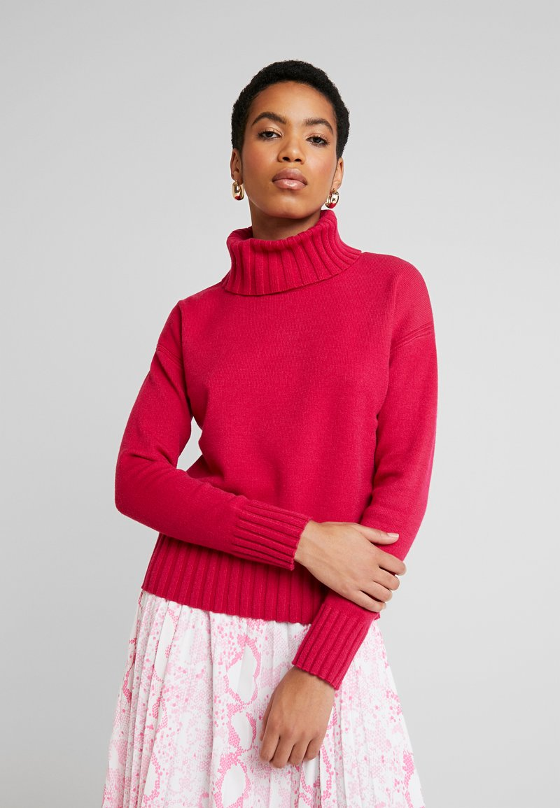 Banana Republic - BEST TRIM TURTLENECK SOLIDS - Maglione - night fuchsia