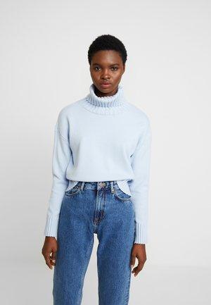 BEST TRIM TURTLENECK SOLIDS - Sweter - light blue