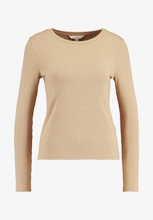 CREW NECK SOLIDS - Long sleeved top - camel
