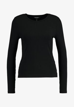 CREW NECK SOLIDS - Maglietta a manica lunga - black