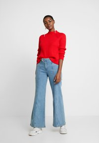 Banana Republic - RAGLAN MOCKNECK SOLIDS - Jumper - true red - 1