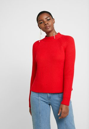 RAGLAN MOCKNECK SOLIDS - Strikpullover /Striktrøjer - true red