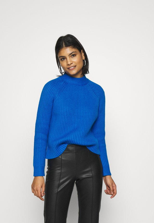 RAGLAN MOCKNECK SOLIDS - Stickad tröja - bright blue