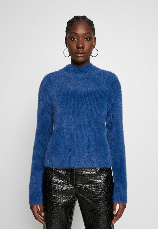 EYELASH MOCKNECK - Stickad tröja - coastal blue