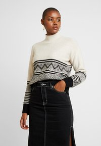 Banana Republic - FAIR ISLE FLOAT MOCK NECK - Maglione - warm neutral - 0