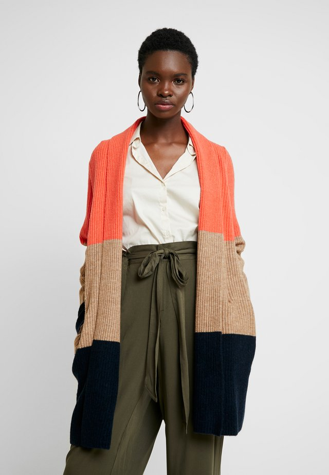 AIRE DUSTER COLORBLOCK - Strickjacke - hot red