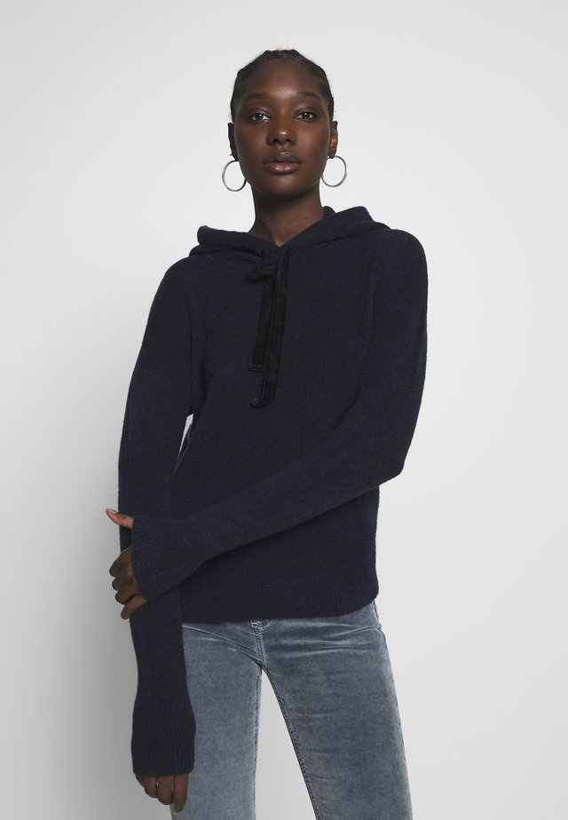 AIRE HOODIE - Jersey con capucha - navy