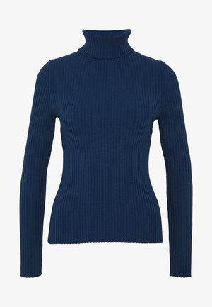 TURTLENECK - Stickad tröja - deep blue