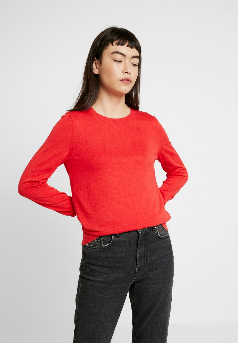 Banana Republic - CREW SOLIDS - Jumper - hot red