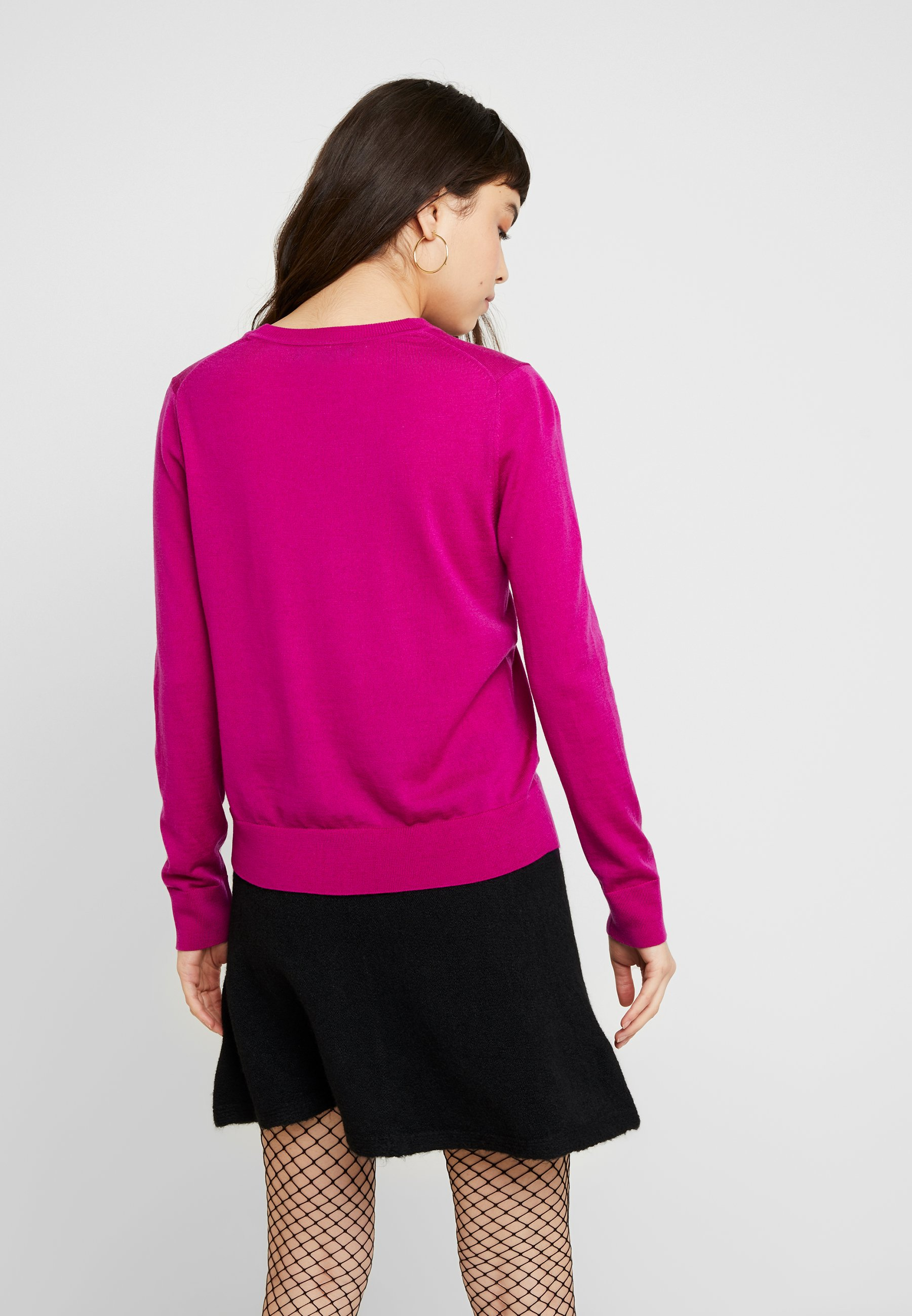 Banana Republic CREW SOLIDS - Sweter - bright magenta