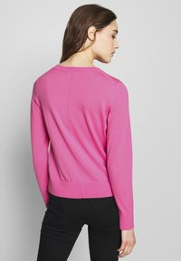 Banana Republic - CREW CARDIGAN SOLIDS - Cardigan - miami pink - 2