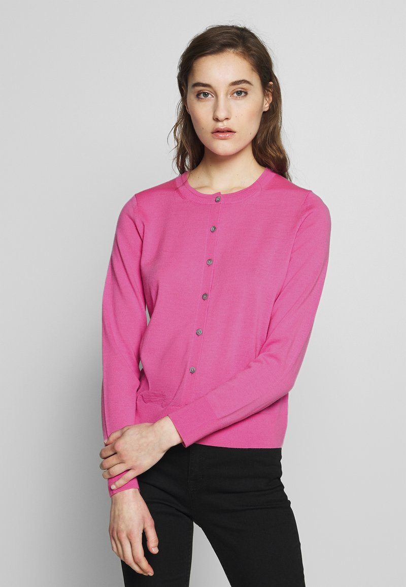 Banana Republic - CREW CARDIGAN SOLIDS - Cardigan - miami pink